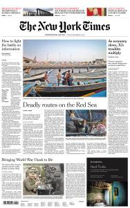 International New York Times - 21 December 2018