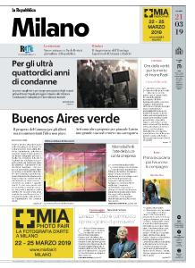 la Repubblica Milano - 21 Marzo 2019