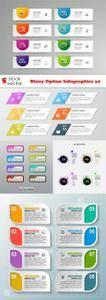 Vectors - Shiny Option Infographics 32