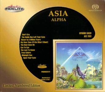 Asia - Alpha (1983) [Audio Fidelity, Remastered 2017, Hybrid SACD, Audio CD Layer]