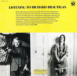 Richard Brautigan - Listening To Richard Brautigan (1970) {2005 Collector's Choice} **[RE-UP]**