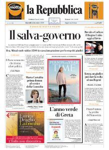 la Repubblica - 12 Dicembre 2019