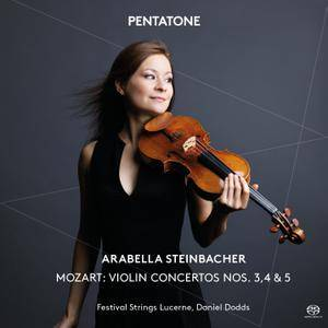Arabella Steinbacher - Mozart: Violin Concertos Nos. 3, 4 & 5 (2014) [Official Digital Download 24/96]