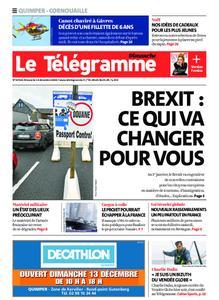 Le Télégramme Ouest Cornouaille – 13 décembre 2020