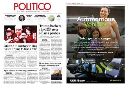Politico – October 04, 2017