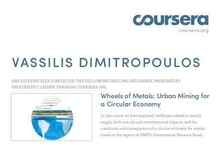 Coursera - Wheels of Metals: Urban Mining for a Circular Economy