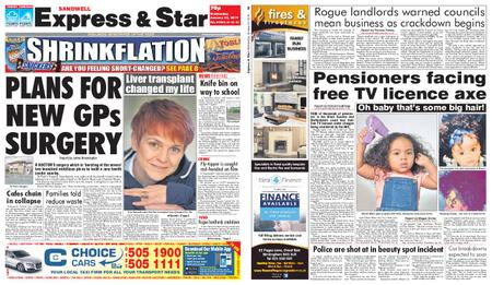 Express and Star Sandwell Edition – January 23, 2019