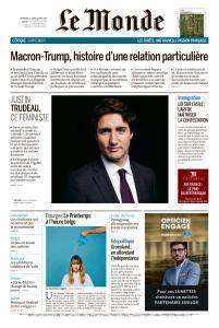 Le Monde du Dimanche 22 et Lundi 23 Avril 2018