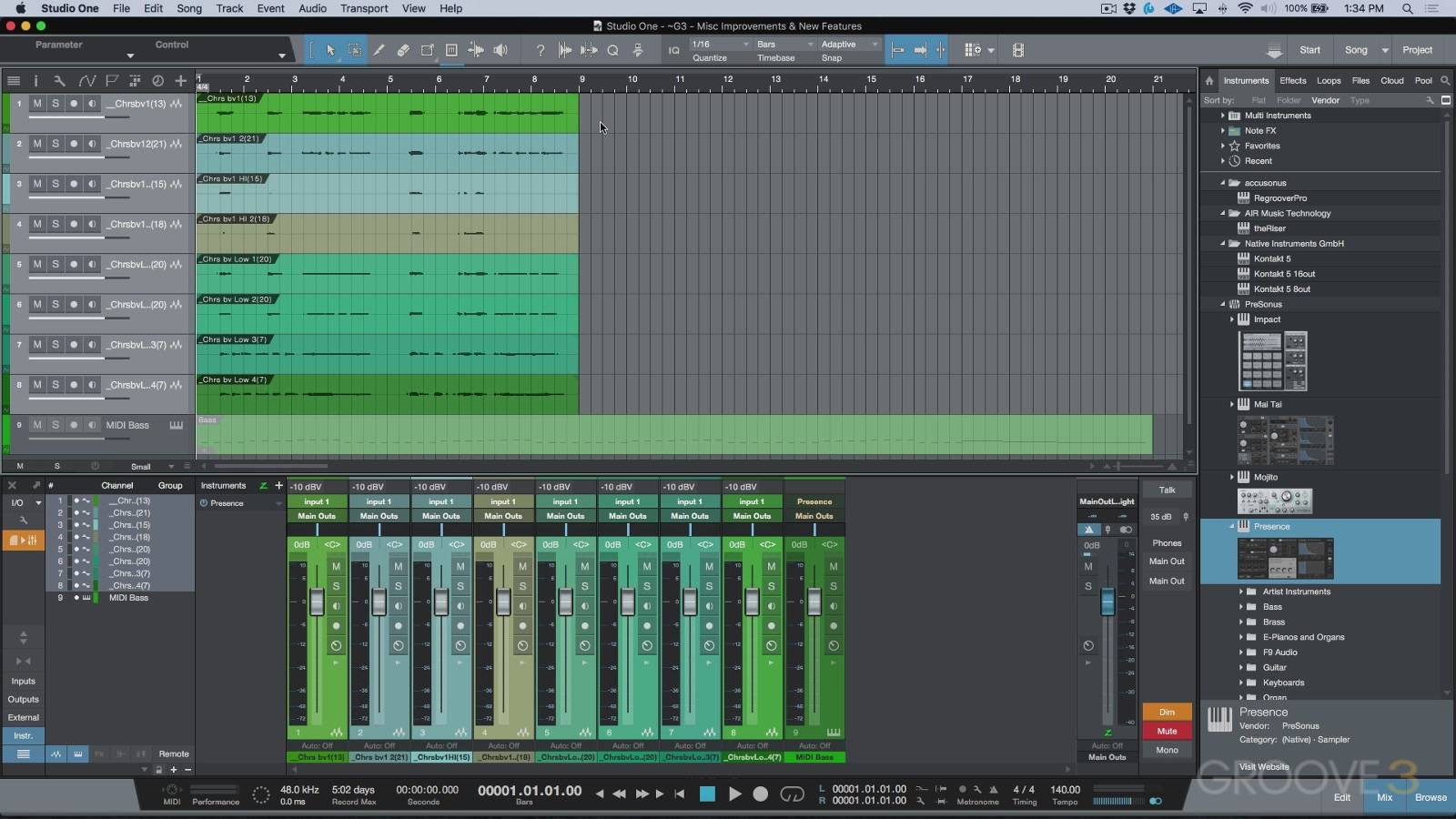 Groove3 - Studio One 3.5 Update Explained (2017)