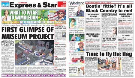 Express and Star Sandwell Edition – June 30, 2018