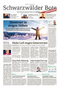 Schwarzwälder Bote St. Georgen, Triberg, Furtwangen - 26. Januar 2019