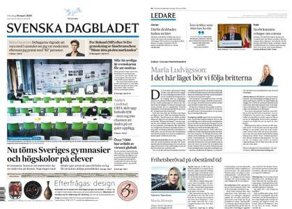 Svenska Dagbladet – 18 mars 2020