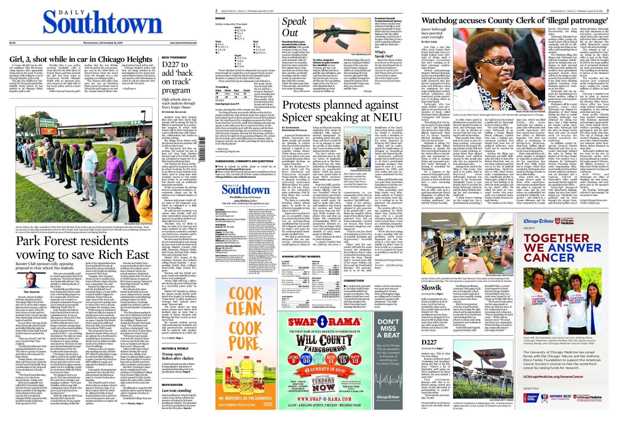 Daily Southtown – September 11, 2019