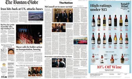The Boston Globe – January 08, 2020