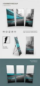 X Banner PSD Mockup Template