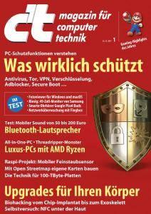 c't Magazin Nr.1 - 23 Dezember 2017