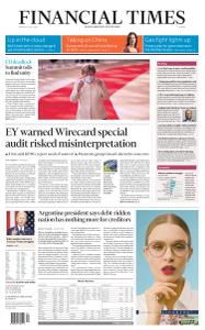 Financial Times Europe - July 20, 2020