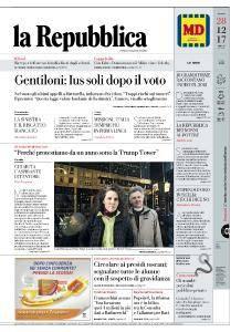 la Repubblica - 28 Dicembre 2017