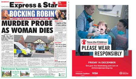 Express and Star Sandwell Edition – November 05, 2018