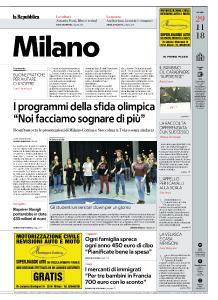 la Repubblica Milano - 29 Novembre 2018