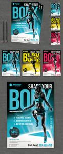 Fitness Flyer Layout 239874933