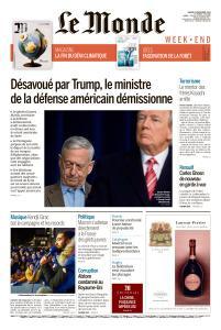 Le Monde du Samedi 22 Décembre 2018