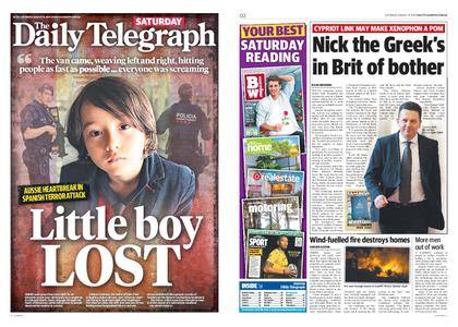 The Daily Telegraph (Sydney) – August 19, 2017
