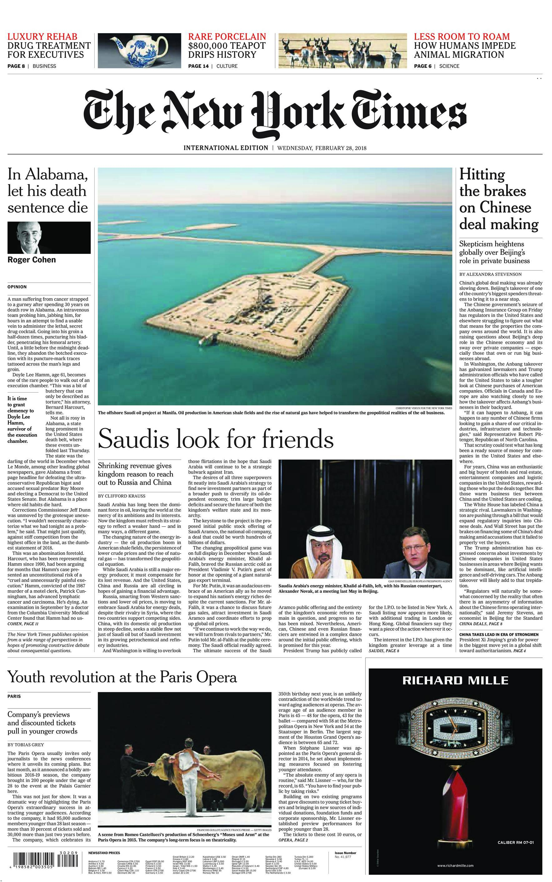 International New York Times - 28 February 2018
