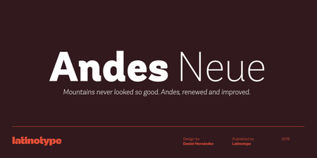 Andes Neue Font