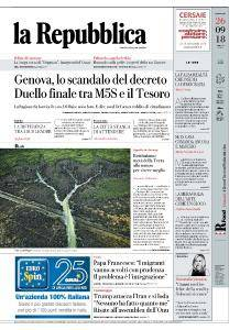 la Repubblica - 26 Settembre 2018