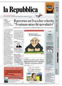 la Repubblica - 5 Agosto 2018