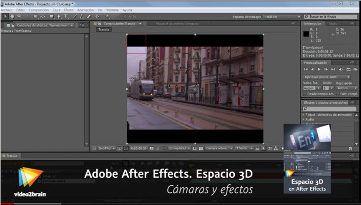 Video2Brain - Adobe After Effects. Espacio 3D - Cámaras y efectos