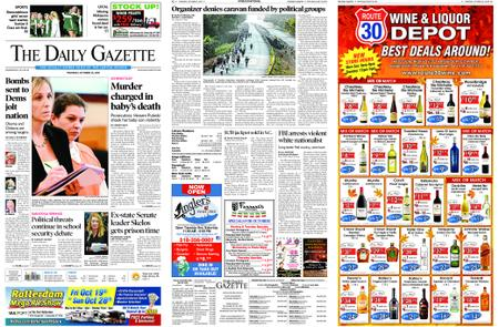 The Daily Gazette – October 25, 2018