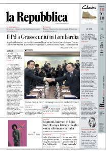 la Repubblica - 10 Gennaio 2018