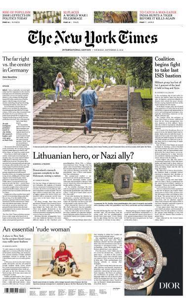 International New York Times - 13 September 2018