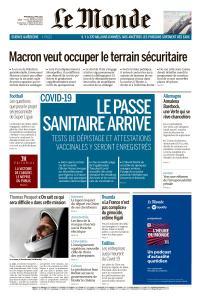 Le Monde du Mercredi 21 Avril 2021