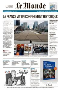 Le Monde du Mercredi 18 Mars 2020