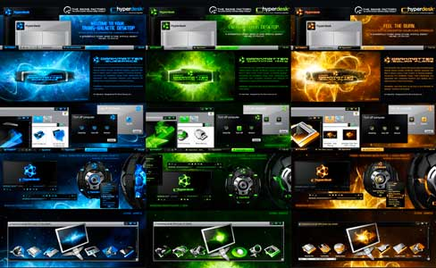 Hyperdesk Dark Matter XP Themes - Most Awesome Windows