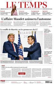 Le Temps - 27 août 2019