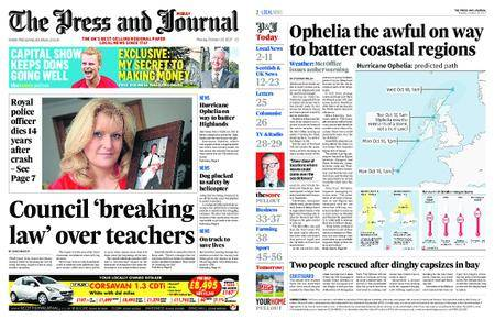 The Press and Journal Moray – October 16, 2017