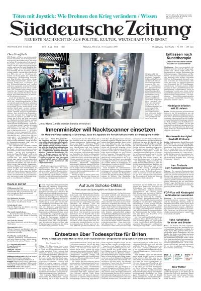 Sueddeutsche Zeitung vom 30.12.2009
