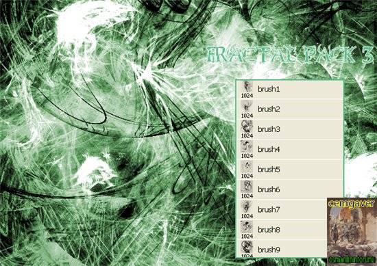 Fractal 3 Brushes
