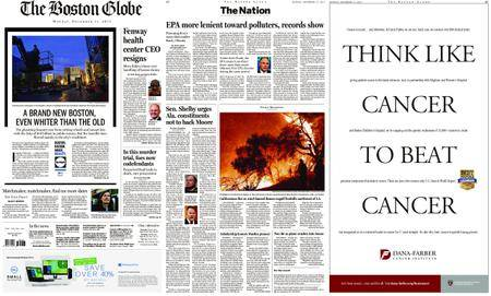 The Boston Globe – December 11, 2017
