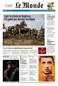 Le Monde du Dimanche 24 et Lundi 25 Mars 2019