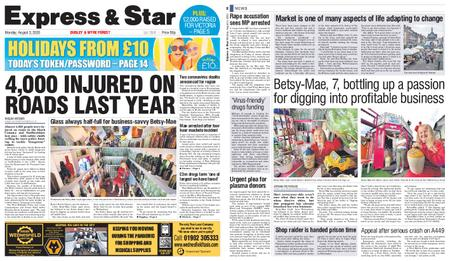 Express and Star Dudley and Wyre Forest Edition – August 03, 2020