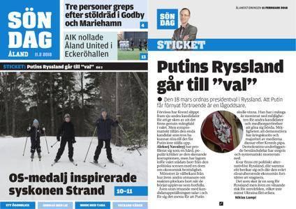 Ålandstidningen – 11 februari 2018