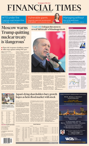 Financial Times Europe – 22 October 2018