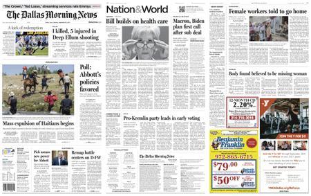 The Dallas Morning News – September 20, 2021