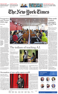 International New York Times - 20 August 2019