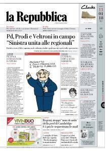la Repubblica - 11 Gennaio 2018